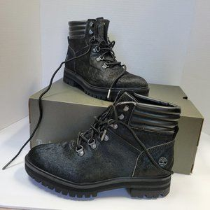 New in Box TIMBERLAND London Square Mid Hiker Black Leather Boot 0A2GD3 Size 9